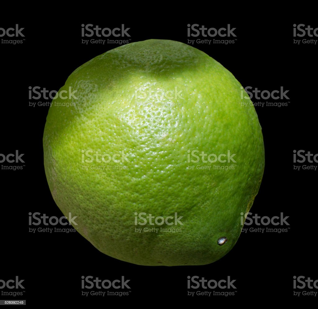 Green lime fruit stock photo