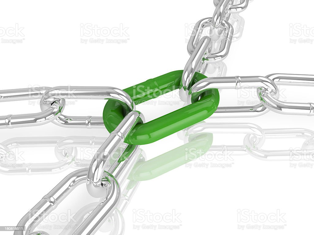 Green Link royalty-free stock photo