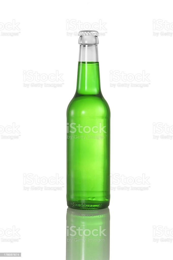 green liquid in bottle royalty-free stock photo