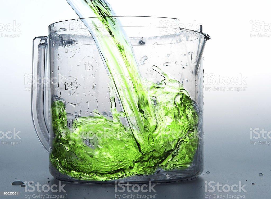 Green liquid royalty-free stock photo