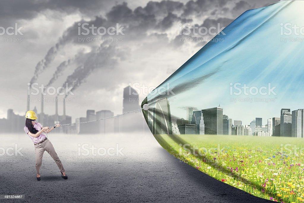 Green living concept stock photo