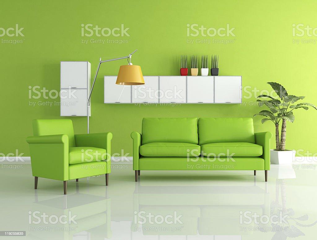 green lounge royalty-free stock photo