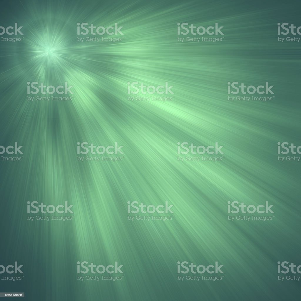 Green luminous rays, laser beams, abstract motion background royalty-free stock photo