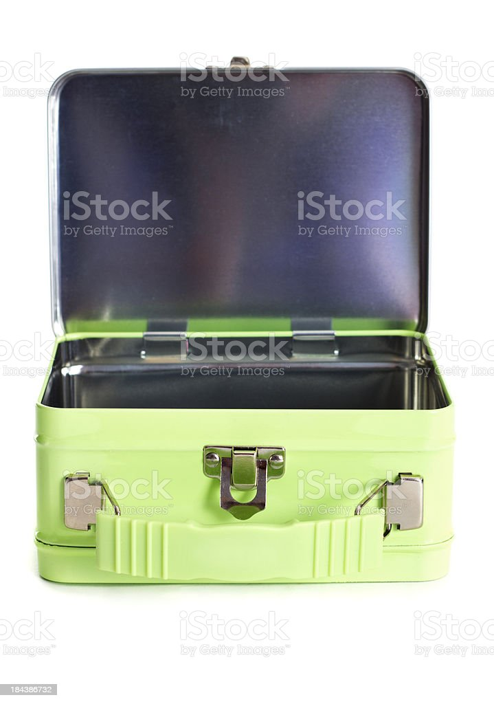 Green Lunchbox stock photo
