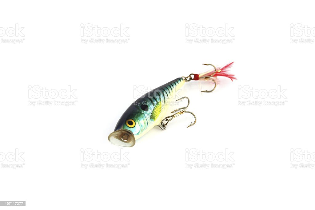 Green Lure is fishing on white Background. royalty-free stock photo