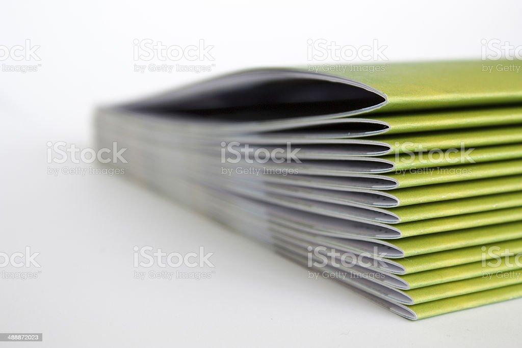 Green Magazines stock photo