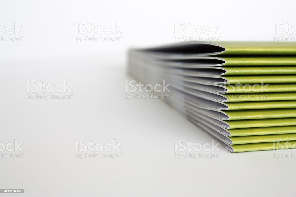 Green Magazines stock photo