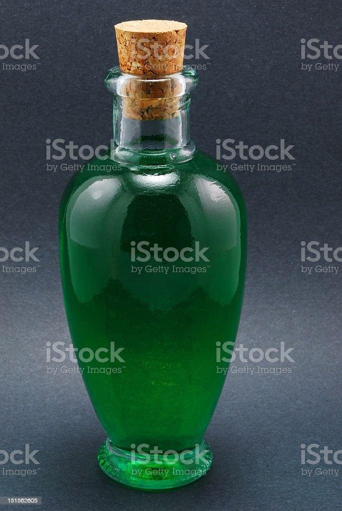 Green Magic Potion on Black stock photo