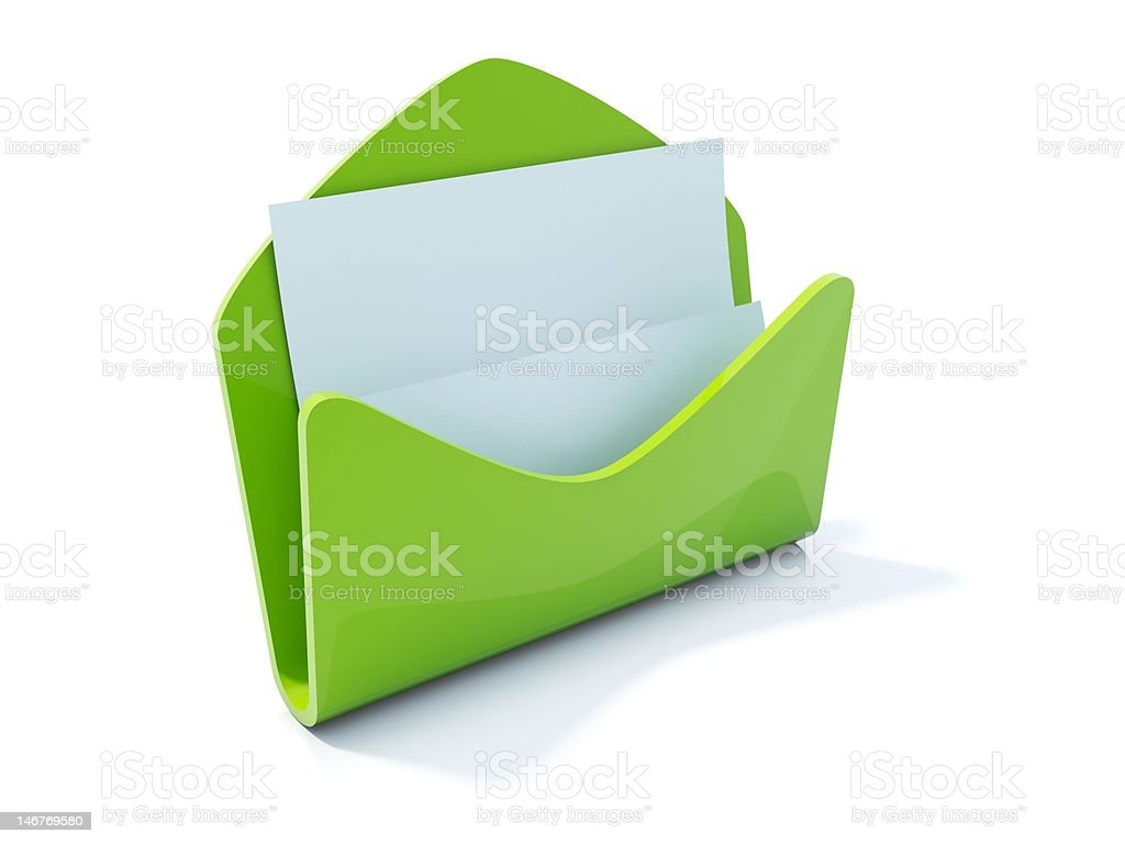 Green mail icon royalty-free stock photo