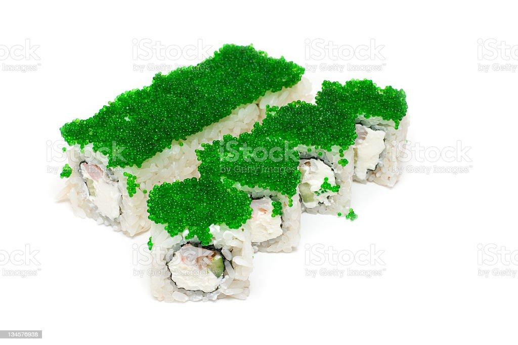 Green maki roll royalty-free stock photo