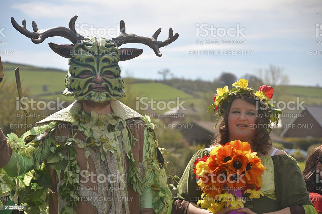 Green Man & May Queen stock photo