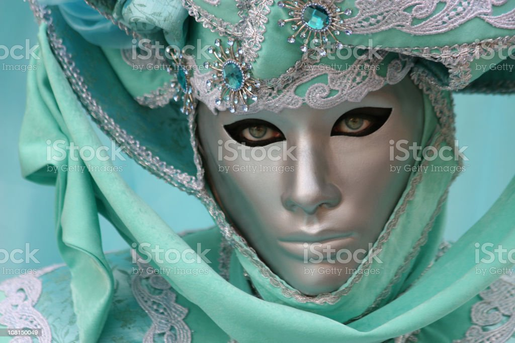 Green mask royalty-free stock photo