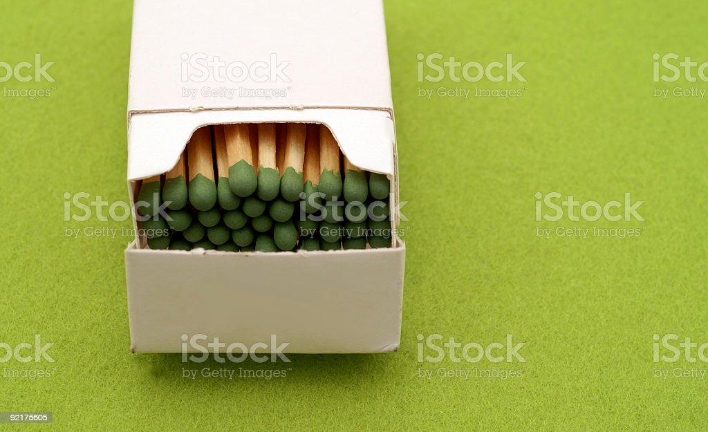 Green Matches stock photo