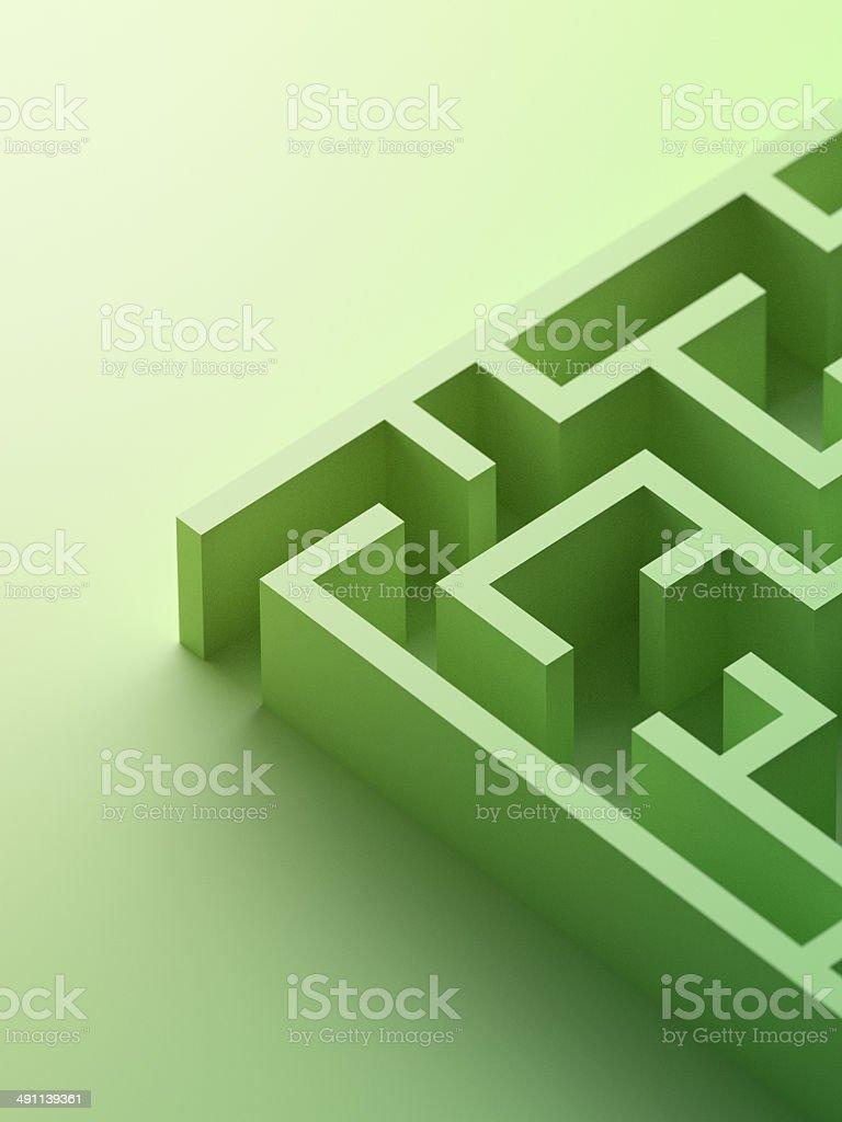 Green Maze stock photo