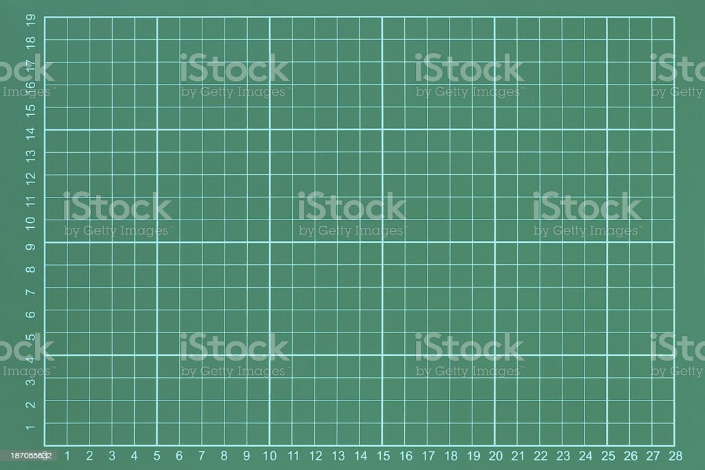 Green measurement grid royalty-free stock photo