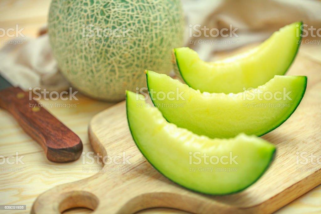 green melon stock photo