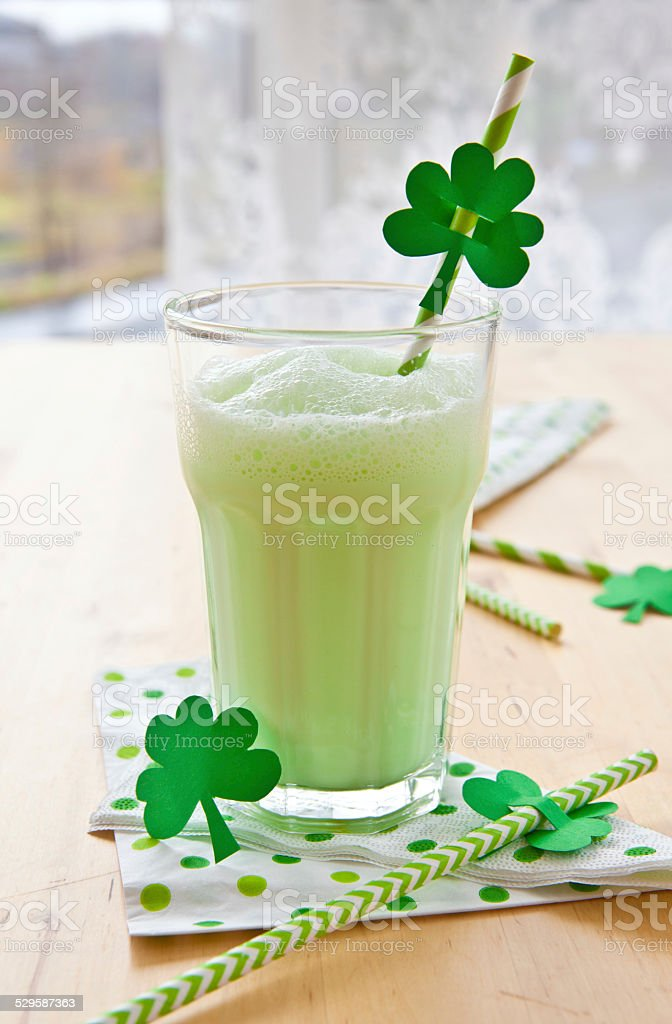 Green Milkshake stock photo