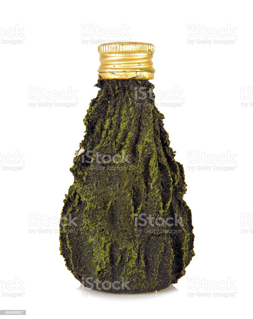 Green mini bottle stock photo