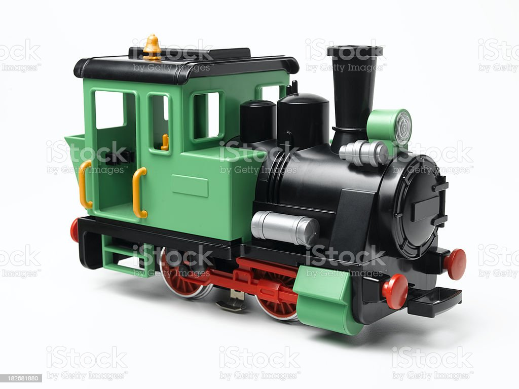 green model train royalty-free stock photo