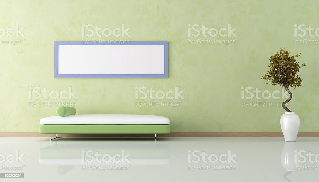 green modern living room royalty-free stock photo