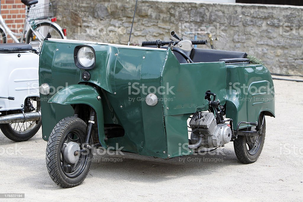 Green moped homegrown royalty-free stock photo