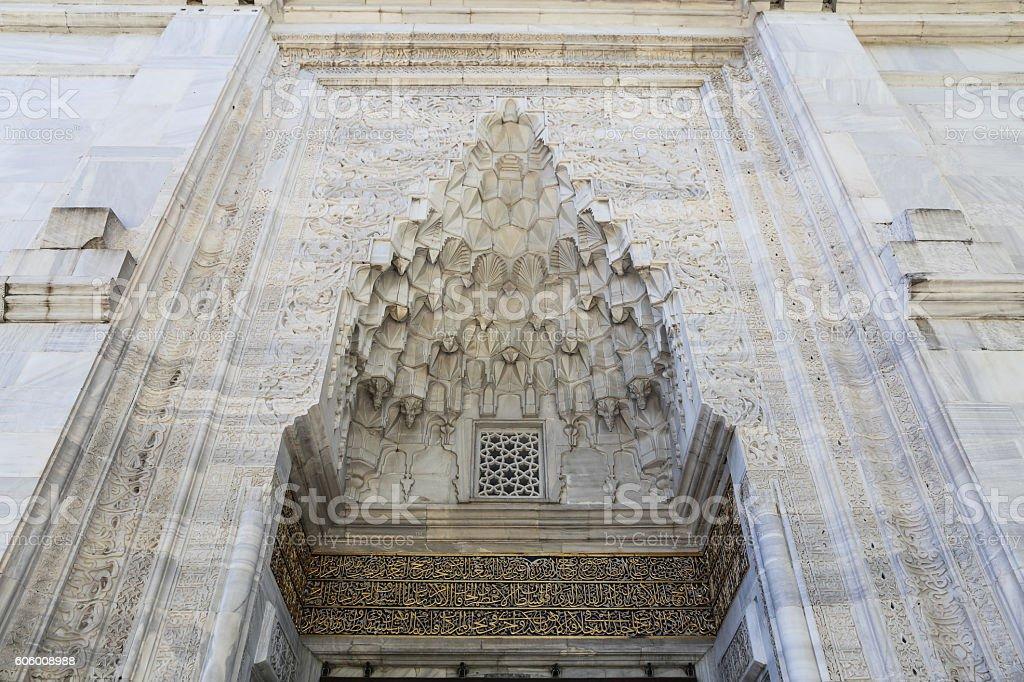 Green Mosque in Bursa City stock photo