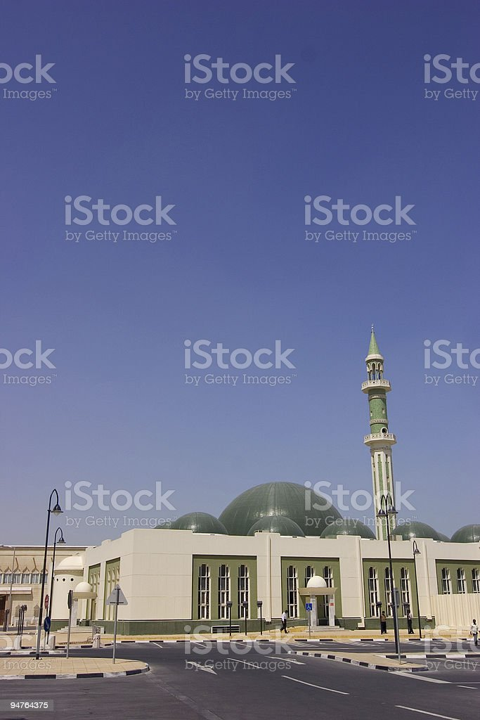 Green Mosque in Doha Qatar royalty-free stock photo