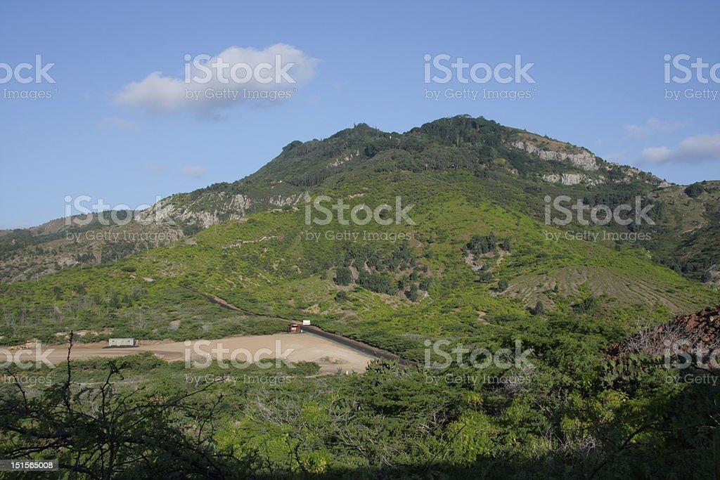 Green Mountain Ascension Island stock photo