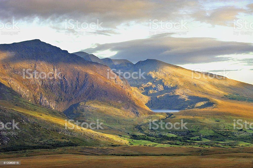 green mountain landscape on Dingle, Ireland stock photo
