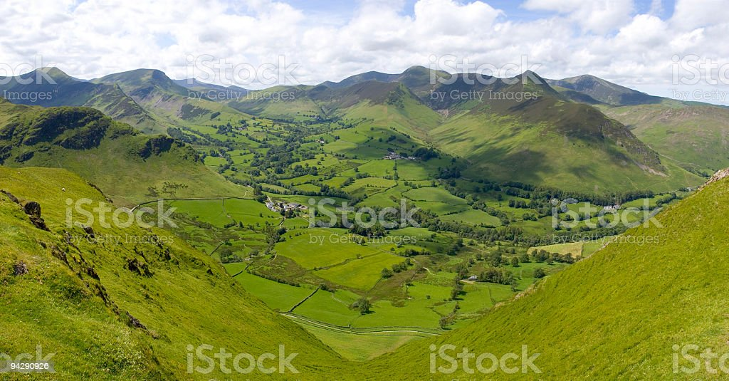 Green mountains and valley royalty-free stock photo