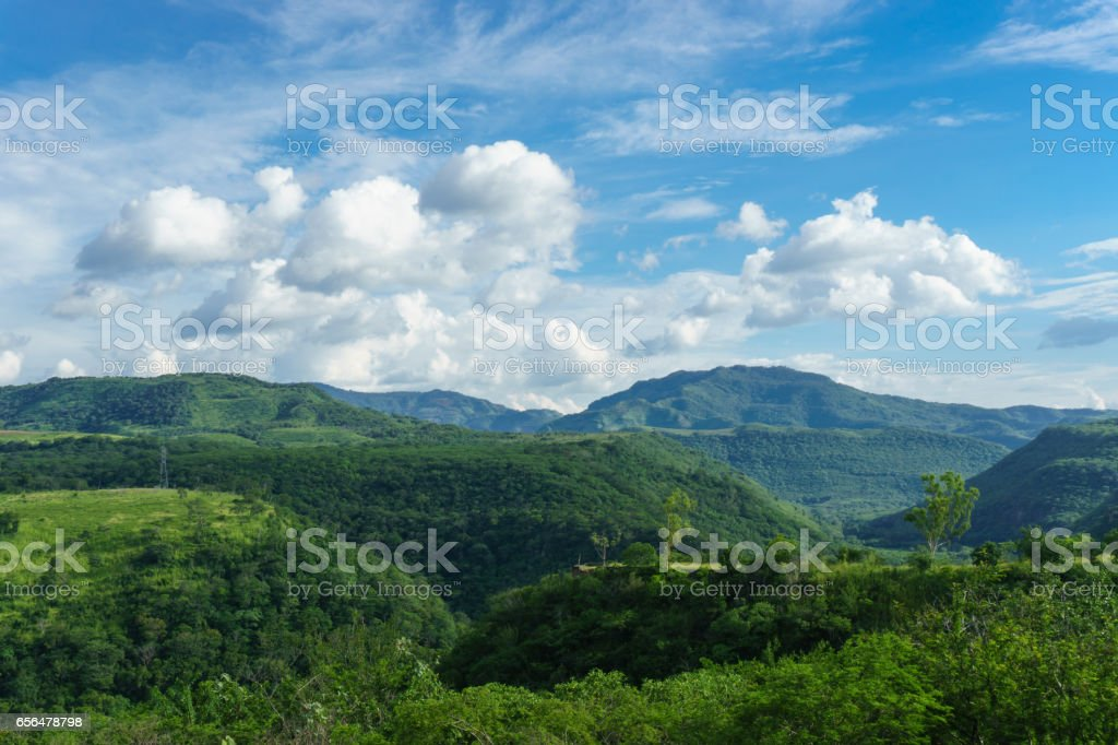 green mountains from Nicaragua stock photo