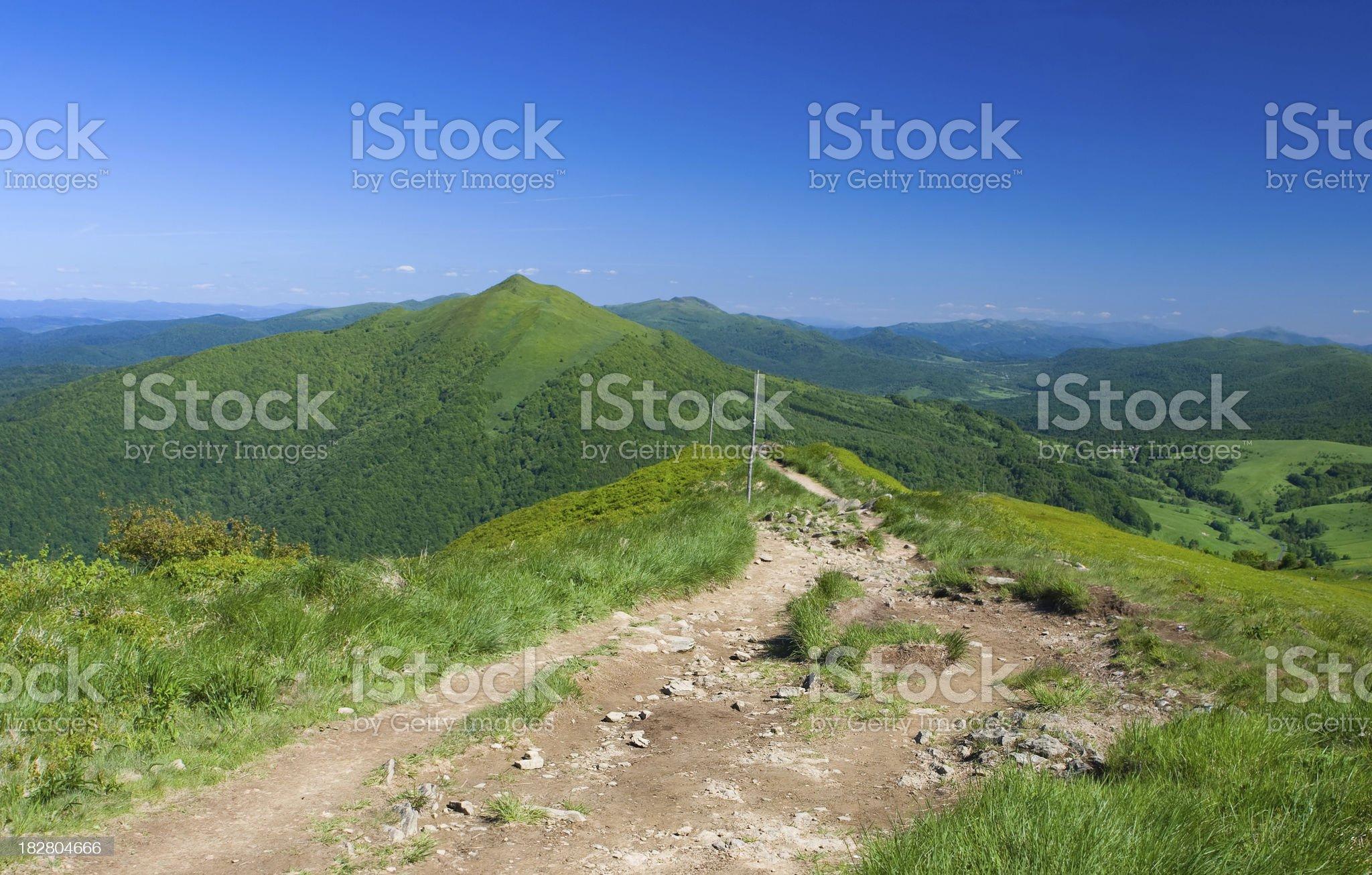 Green mountains royalty-free stock photo