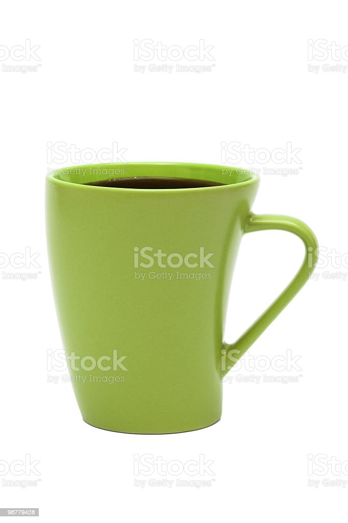 green mug from coffee royalty-free stock photo