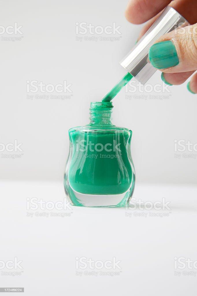 Green Nail Polish royalty-free stock photo