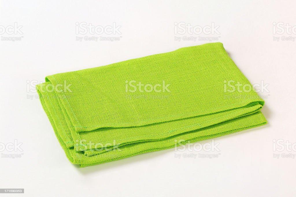 Green napkin stock photo