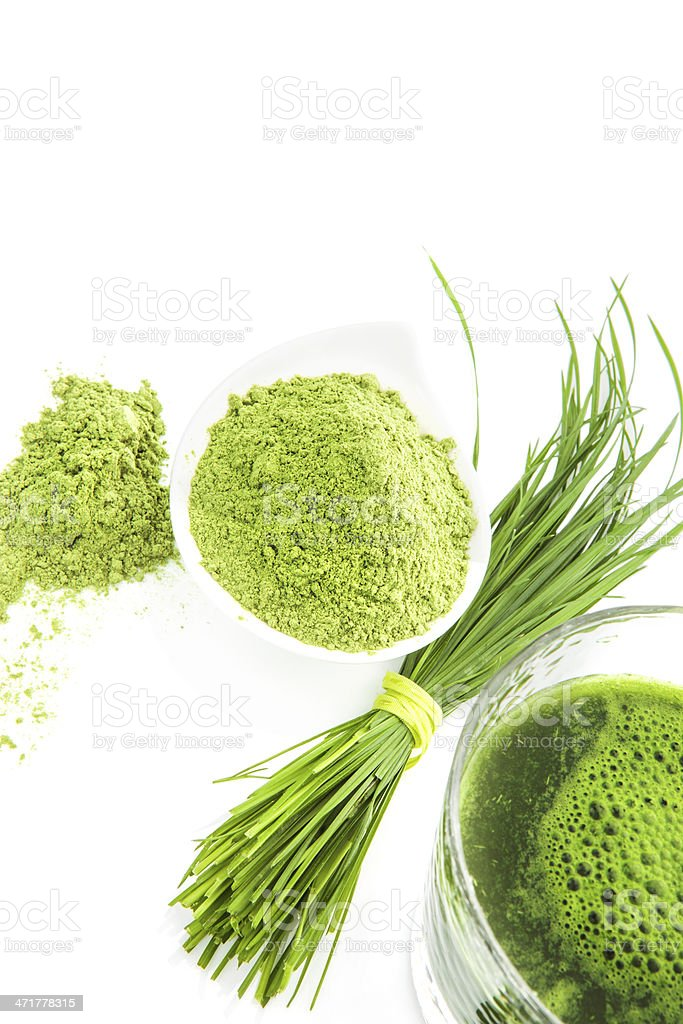 Green natural food supplements. royalty-free stock photo