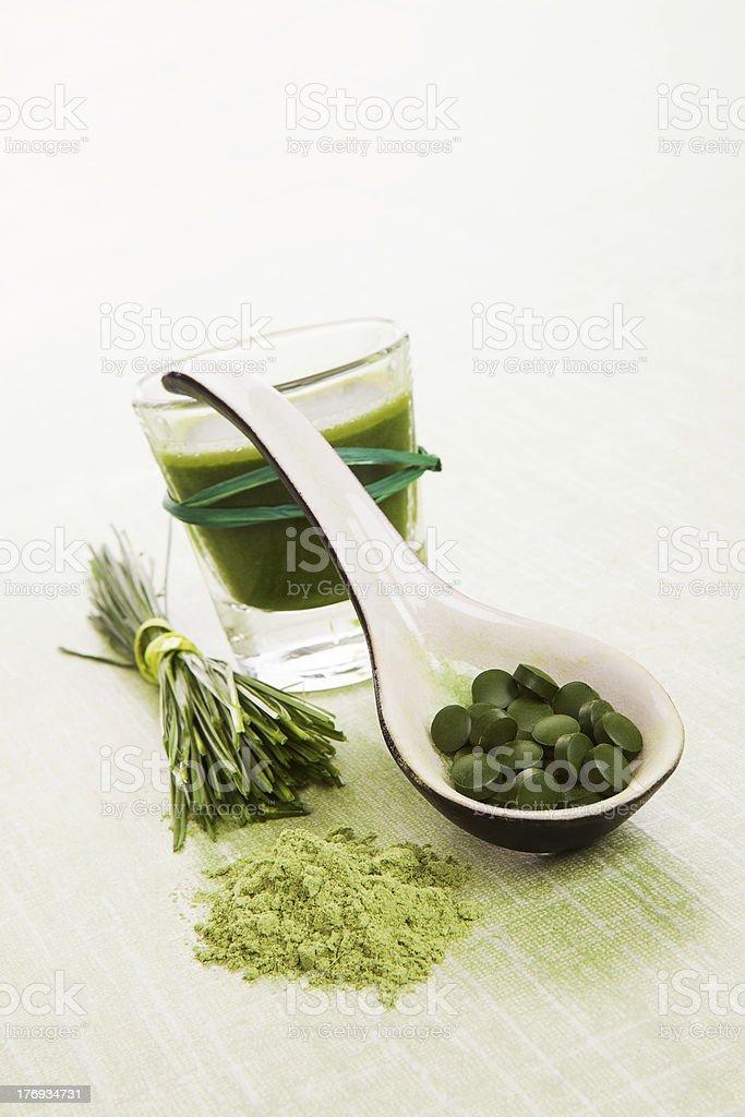 Green natural superfood. royalty-free stock photo