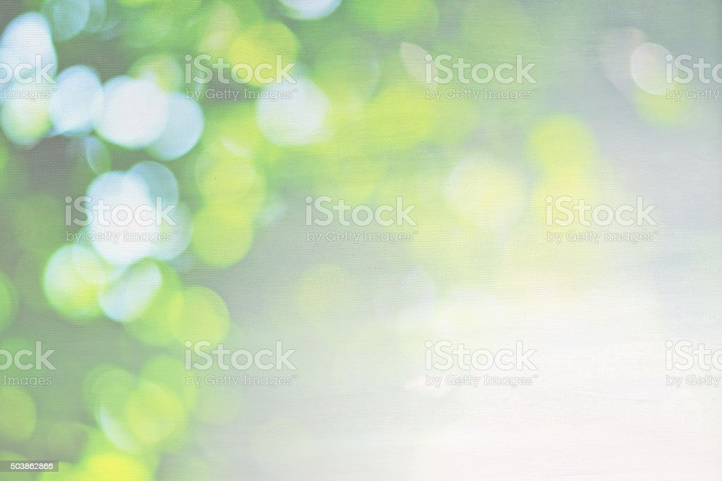 Green nature bokeh on canvas background stock photo