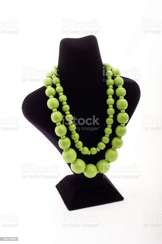 Green necklace royalty-free stock photo