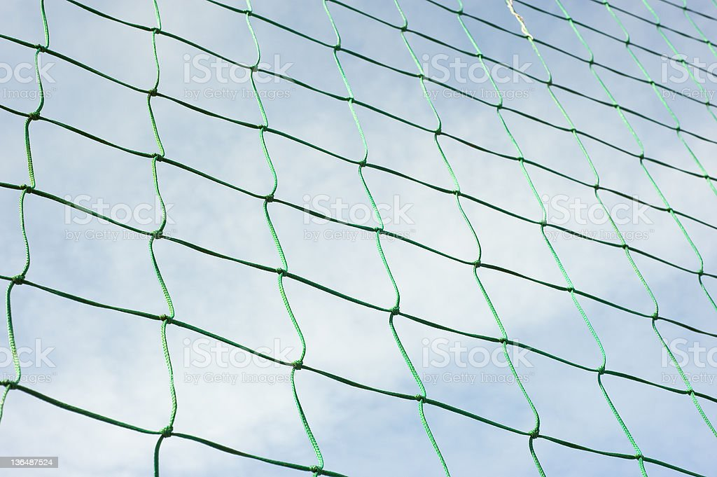 Green Net Against The Sky royalty-free stock photo