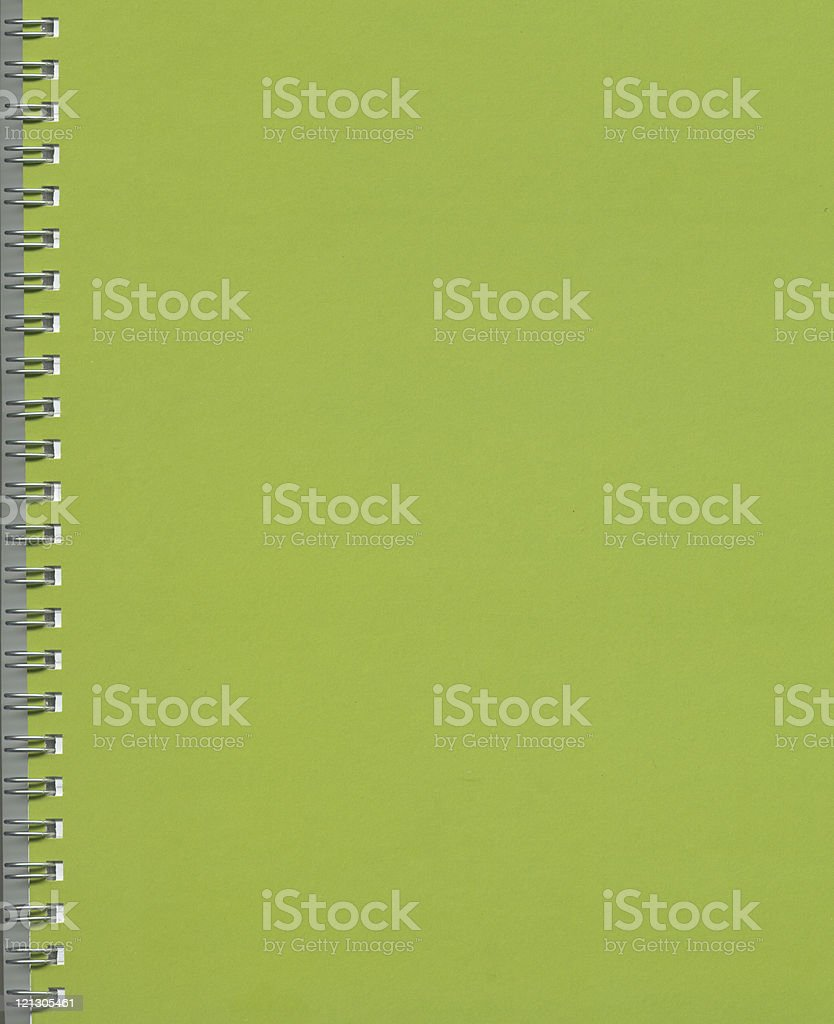 green notebook royalty-free stock photo