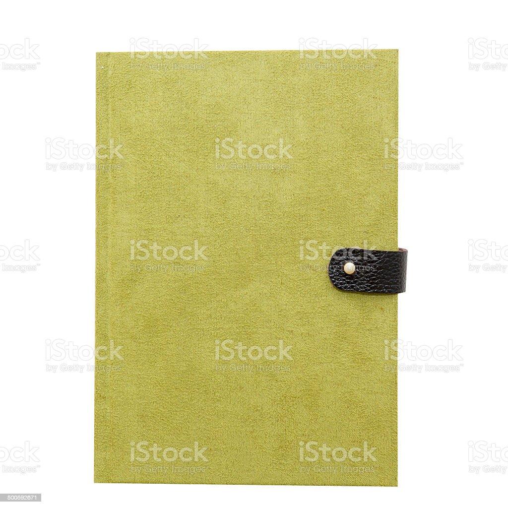green notebook stock photo