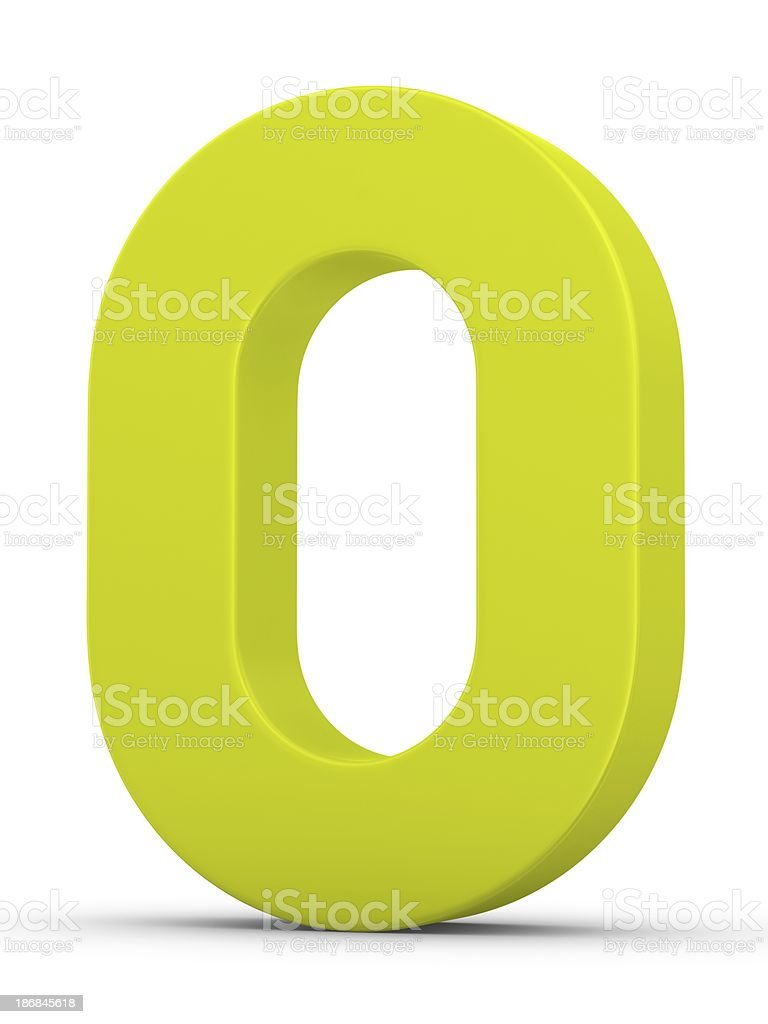 green number 0 stock photo