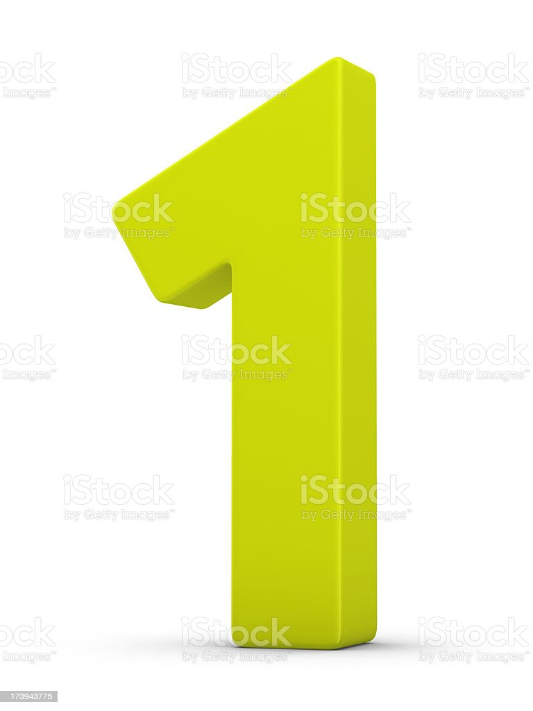 green number 1 stock photo
