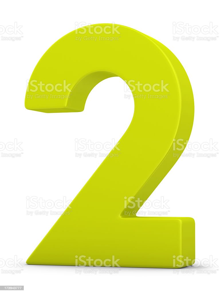 green number 2 royalty-free stock photo