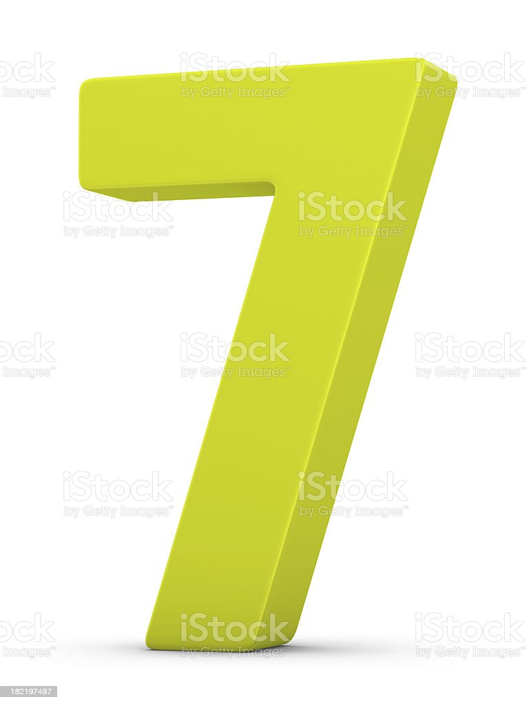 green number 7 royalty-free stock photo