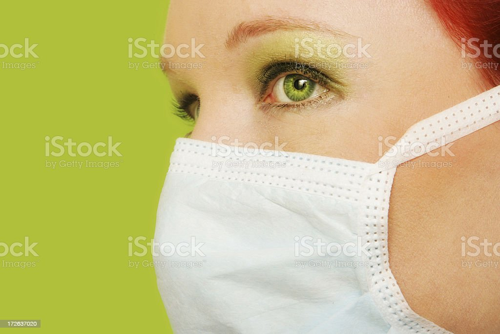 Green Nurse royalty-free stock photo
