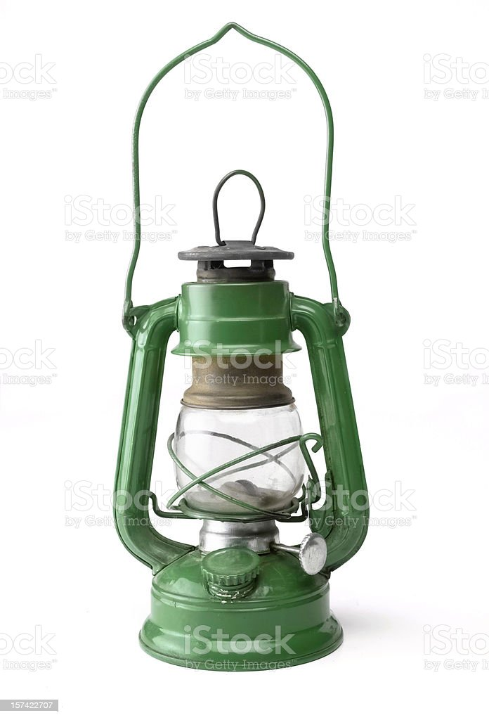Green Oil Lamp royalty-free stock photo