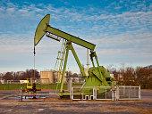 Green Oil Pump Jack
