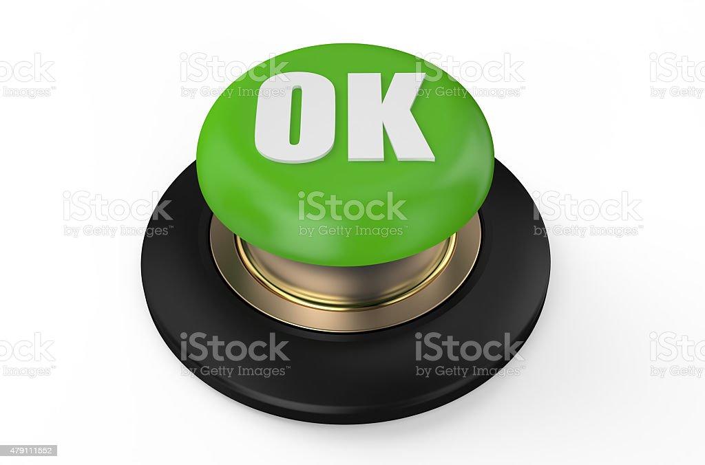 Green ok button stock photo